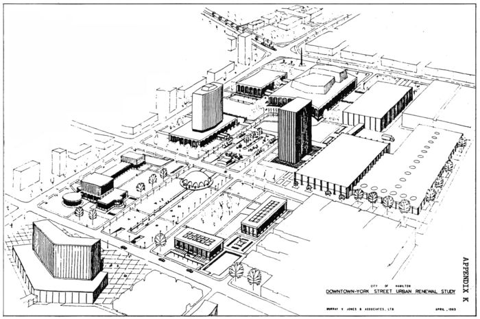 Original 1965 Civic Square plan, artist's rendering