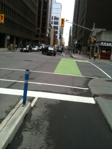 Protected bike lane