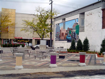 The new urban plaza on Ottawa St. N.