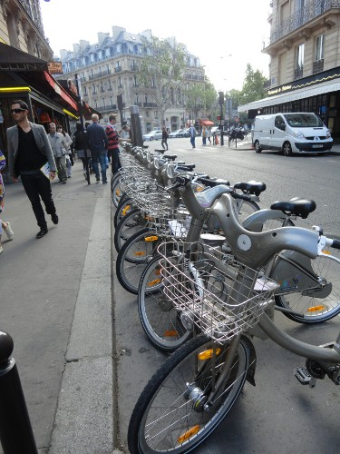 Velib' station in Paris (RTH file photo)