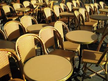 Cafe chairs (Image Credit: Nelson Minar)