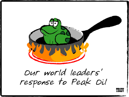 Editorial Cartoon: Our World Leaders' Response to Peak Oil