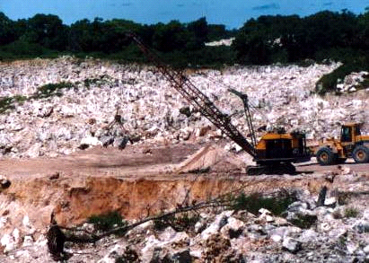 Phosphate mining has rendered most of the tiny island of Nauru barren and unsuitable for agriculture without massive imports of topsoil.
