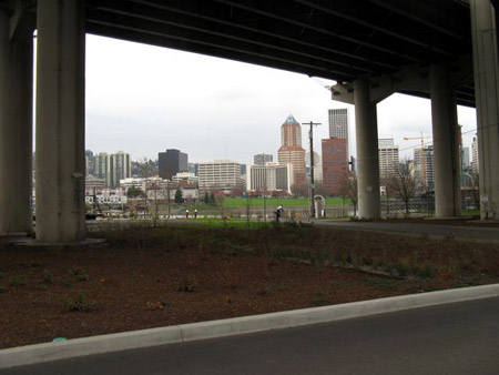 Even freeway underpasses are landscaped and litter free!