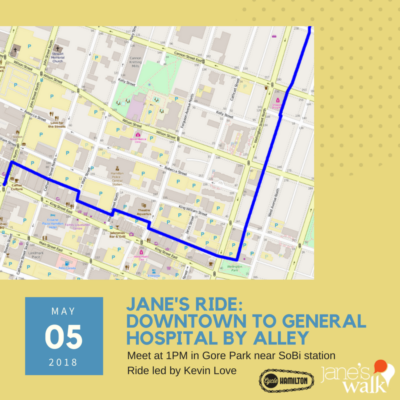 Poster for Jane's Ride downtown to hospital