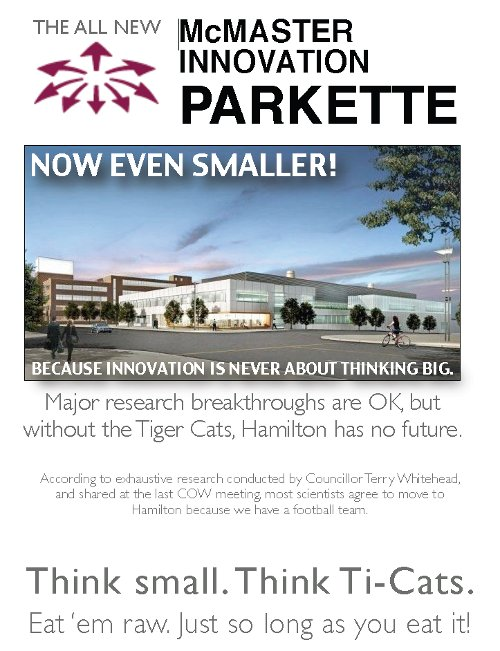 McMaster Innovation Parkette: Now Even Smaller!