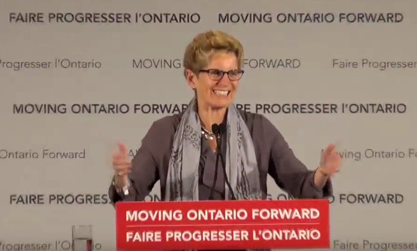 Premier Kathleen Wynne at LRT funding announcement