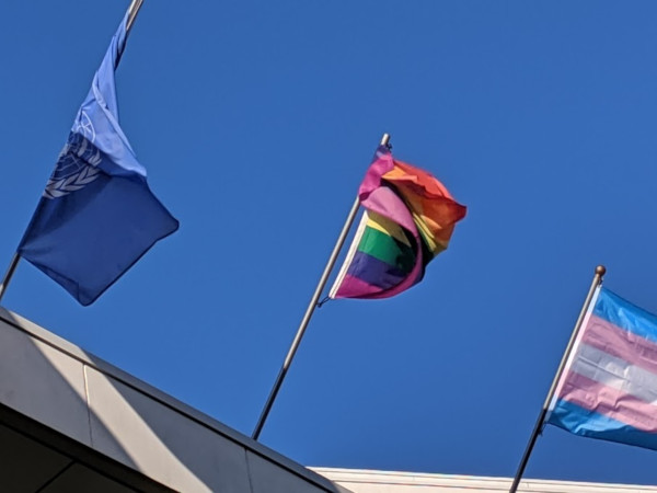 The tangled City Hall Pride Flag is an apt metaphor for the City's relationship with the LGBTQ+ community (RTH file photo)