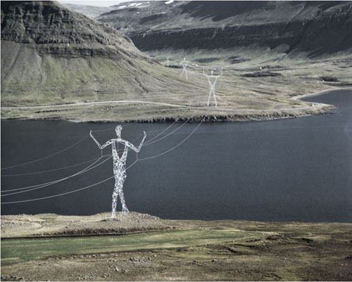 Hydro pylons as sculptures