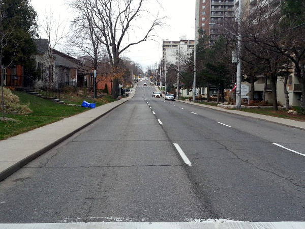 Queen Street South during afternoon rush hour on November 23, 2015