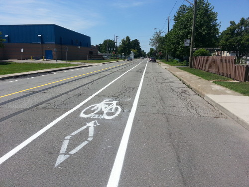 Queensdale Avenue bike lanes in 2013 (RTH file photo)
