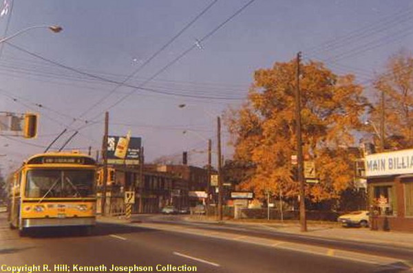 Electric trolley bus on Main Street at the Delta (Image Credit: Transit Toronto)