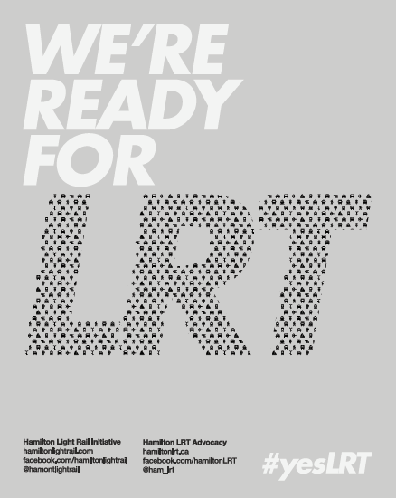 We're Ready For LRT poster, light grey colour scheme
