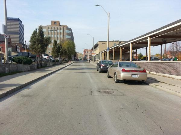 Rebecca Street between Catharine and John before two-way conversion (RTH file photo)