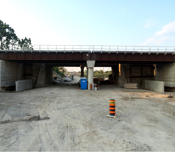 New Railroad Bridge built in July 2015 (photo by Mark)