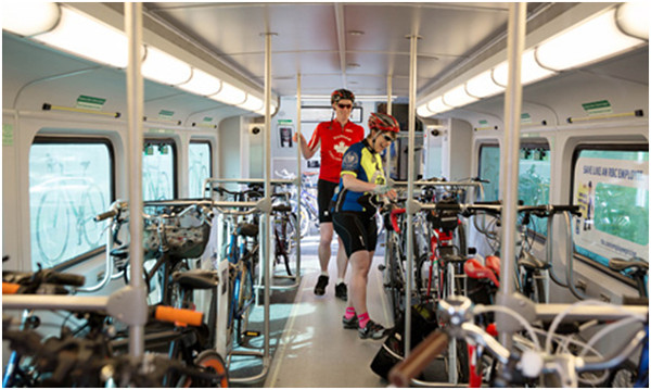 The Niagara seasonal GO trains have a bike coach (Image Credit: GO Transit)