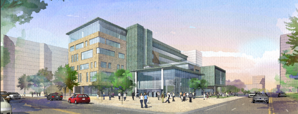 Rendering: McMaster Downtown Health Campus, Main and Bay
