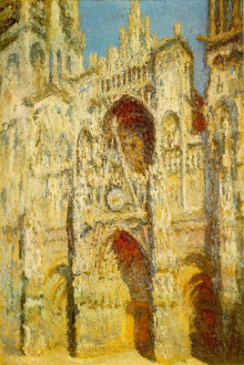 Rouen Cathedral, the West Portal and Saint-Romain Tower, Full Sunlight, Harmony in Blue and Gold 1994, Musee d'Orsay, Paris