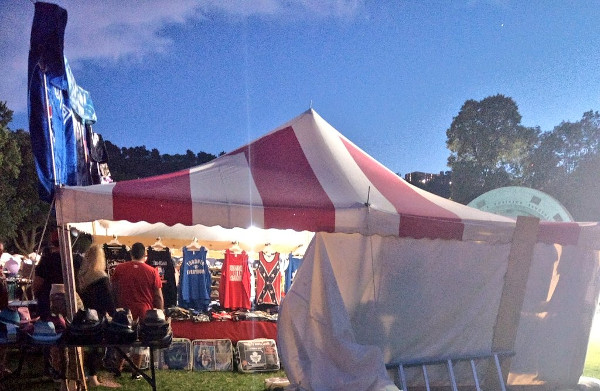 Confederate merchandise for sale at Festival of Friends (Image Credit: Jessica Rose/Twitter)