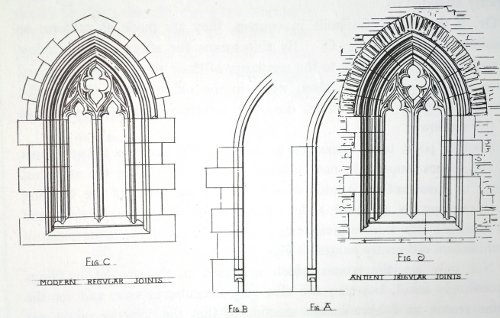 Fig. 4. A.W. Pugin, True Principles, window masonry joints.