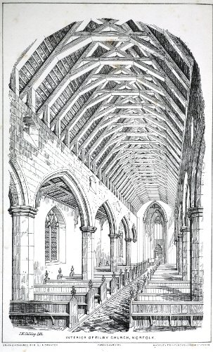 Fig. 7. Filby (Norfolk), interior to E, after Brandon's Parish Churches.