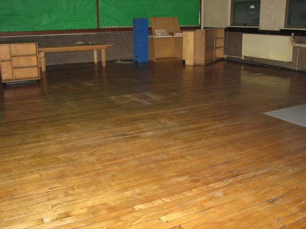 Classroom floor, walls in excellent shape.