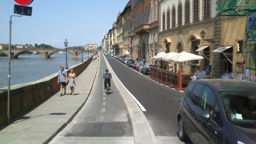 Looking West on Lungarno Corsini from Santa Trinita Bridge, Florence