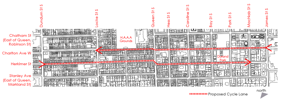 Original bike lane routes (Image Credit: Kyle Slote)