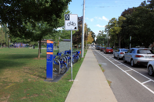Bike Share station at Durand Park