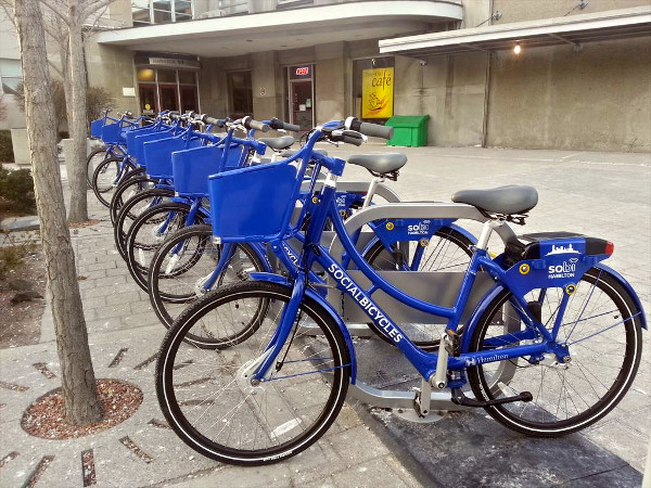 Hamilton Bike Share hub, Hunter GO Station (RTH file photo)