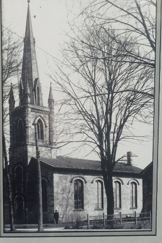 Dundas, St James's Anglican Church, exterior, John G. Howard, architect (1841-1843), archival photograph.