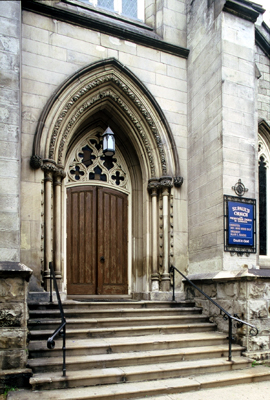 Fig. 7. Hamilton, St Paul's Presbyterian Church, east doorway.