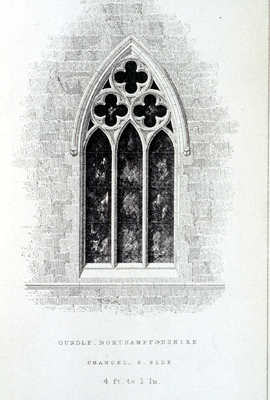 Fig. 11. St Peter's Oundle (Northamptonshire), window, from Sharpe's Decorated Windows.
