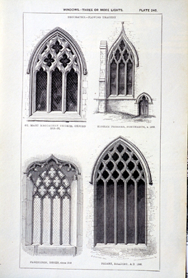 Fig. 13. Flowing tracery designs from John Henry Parker's, Glossary of Architecture.