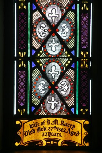 Fig. 8. Middleport, St Paul's Anglican Church, chancel window detail.