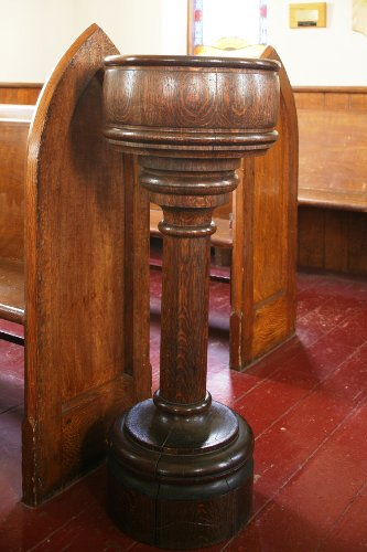 Fig. 10. Middleport, St Paul's Anglican Church, font.