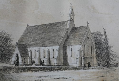Fig. 15. Albany, New York, Grace Church, Frank Wills, 1850.