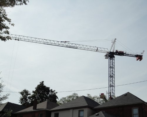 A tower crane overlooks Strathcona (RTH file photo)