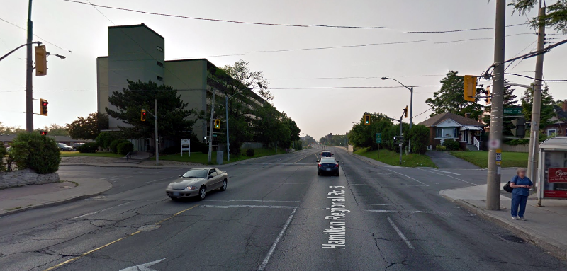 Queenston Road at Reid Avenue (Image Credit: Google Street View)