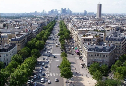 Paris is world famous for its boulevards, framed by Baron Haussmann's streetwalls (photo credit: Skyscraper Page)