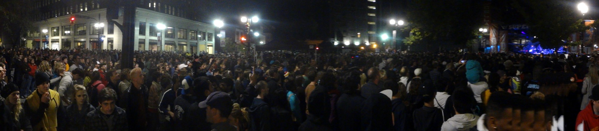 Panorama: a huge crowd was on hand to witness K'Naan's fantastic concert.