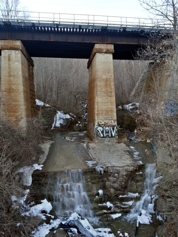 Sydenham Falls and rail bridge