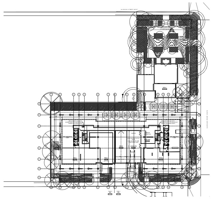Television City architectural plans, ground floor