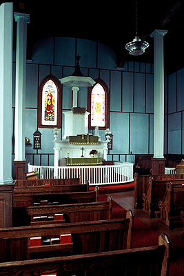 Fig. 4. Long Reach (NB), St James's Anglican Church, interior to E, 1841-43.