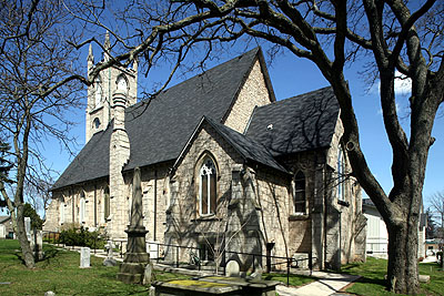 Fig. 8. St John's Anglican Church, Ancaster, exterior from SE.
