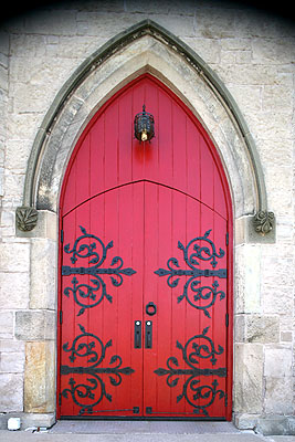 Fig. 10. St John's Anglican Church, Ancaster, west doorway.