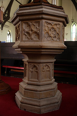 Fig. 13. St John's Anglican Church, Ancaster, font.