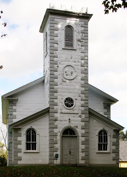 Fig. 3. Vittoria, ON, Christ Church Anglican (1845), exterior from W.