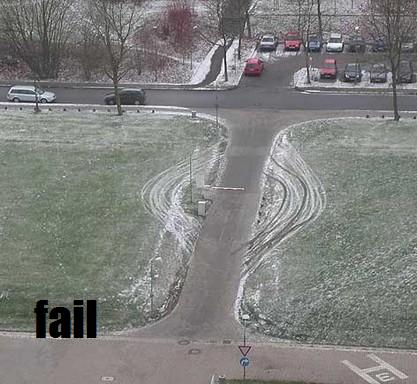 People will interpret arbitrary obstacles as damage and route around them (Image Credit: Failblog)