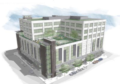 The Lovejoy, a new mixed use building in Portland